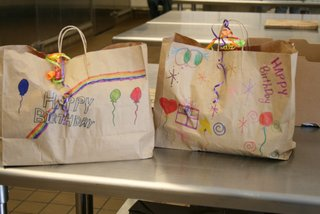 Project Angel Food - Birthday Bags ready for delivery