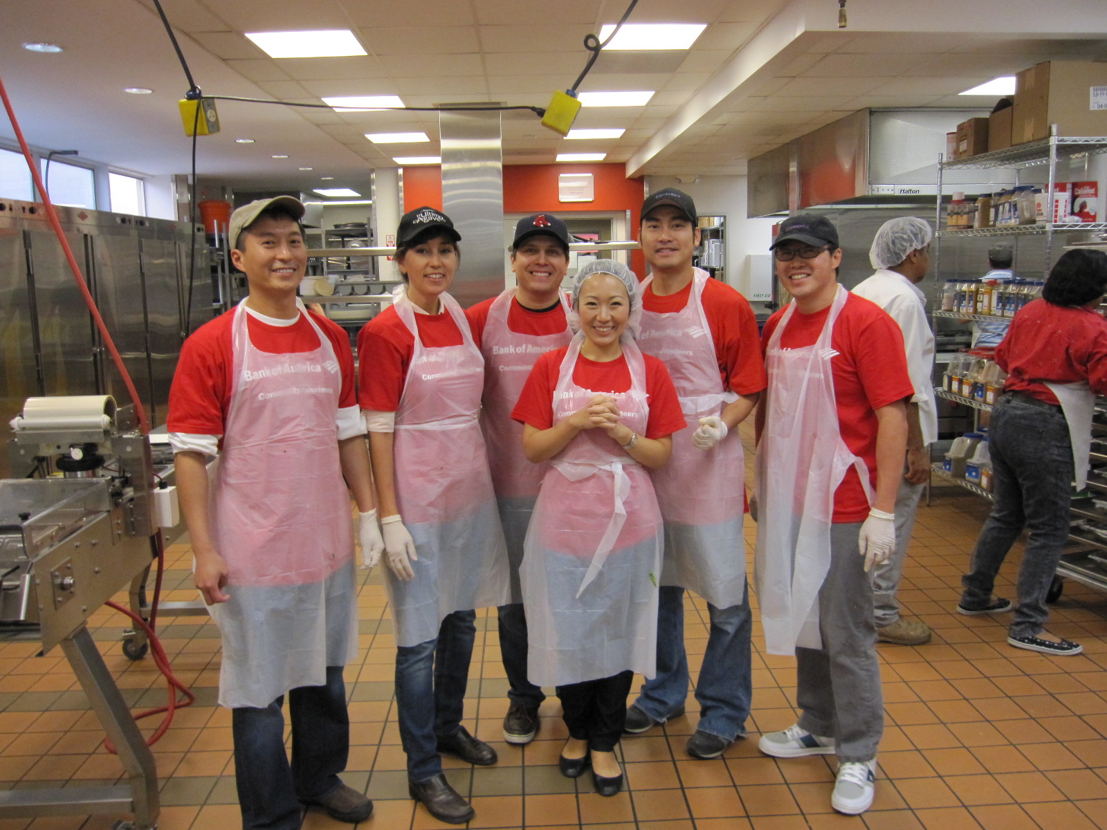 Volunteer Team Bank of America in Kitchen